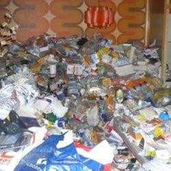 Wohnungsräumung: Müllberg vor Tapete