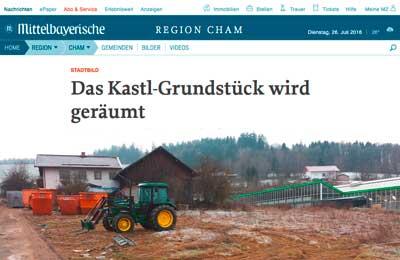 Die Münchner Entrümpelungsfirma ip-entrümpelung-bayern entrümplet das Kastl-Grundstück in Bad Kötzing.